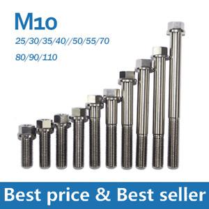 M10 X1.25mm Titanium Hex Head Flange Bolt Screw 25 30 35 40 50 55 70 80 90mm