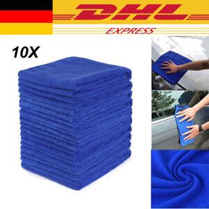10X Mikrofasertücher Auto Reinigung Poliertuch Microfasertuch DHL