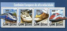 Guinea-Bissau High Speed Trains Stamps 2015 MNH Eurostar TGV Railways Rail 4v MS
