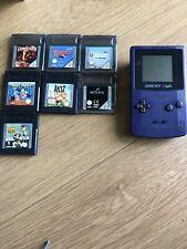 Nintendo Game Boy Color Colour Purple,  7 games bundle