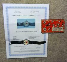 BOXED SET:DISNEY1934 INGERSOLL MICKEY MOUSE WRISTWATCH+LEATHER BAND+SERVICED+COA