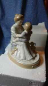 Avon A Mother's Love Porcelain Figurine w/ Box (Box Has Wear) Mother Child Dog