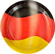 90 x Partyteller Pappteller Deutschland 23 cm Germany Party EM WM Fußball