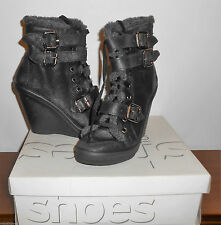 Topshop Wedge High (3-4.5 in.) Lace Up Boots for Women