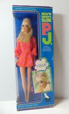 Vintage Mod Barbie 1969 New 'n Groovy Talking P.J. PJ Doll #1113 - NRFB - mute
