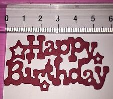 Die Cuts! 10 Pc 'Happy Birthday' Topper Birthday Party Stars Coloured Cardstock