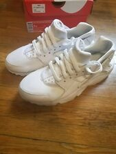 nike huarache shoes size 7y white/platinum for $150