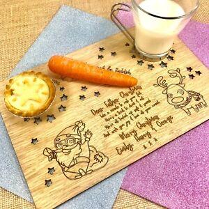 Personalised Santa Treat Plate Tray Board Christmas Eve, Lost Button & Magic Key