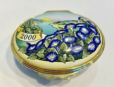 "Halcyon Days Enamel Trinket Box 2000 ""A Year to Remember"" English"