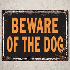 PP0064 Rustic Beware of the Dog sign Home House Cafe Bar Decor Gift