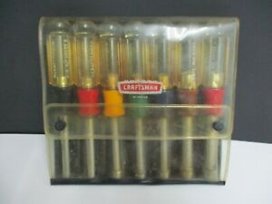 """Vintage CRAFTSMAN 7 Piece Nut Driver Set No. 9_4196 with case, USA 3/16 to 1/2"""""""
