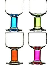 Sagaform Set of 4 All Purpose Wine Drinking Glasses Coloured Glass Fun Bar Gift