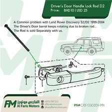 Driver's Door Handle Lock Rod Discovery 2 CXB103030H-PIN