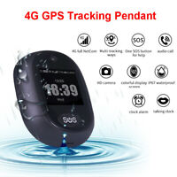 4G GPS Tracking Pendant Personal Tracker Talking LBS Clock Waterproof For Kids