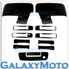 09-12 Ram Gloss Black Mirror w/Light hole+4 Door Handle+Tailgate w.Keyhole Cover