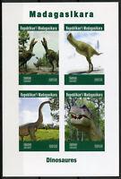 Madagascar 2019 MNH Dinosaurs 4v IMPF M/S Dinosaures Prehistoric Animals Stamps