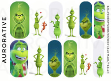 Grinch 3 Nail Decals