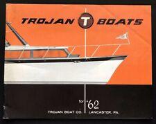 Trojan Motor Boats Marine Cruiser Fishing Boating Lancaster PA 1962 Catalog