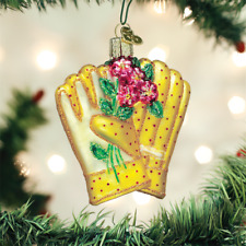 OLD WORLD CHRISTMAS GARDENING GLOVES GLASS CHRISTMAS ORNAMENT 32329