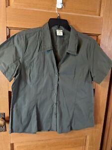 Cabelas Size 2XL Green Shirt Short Sleeved Cotton