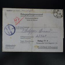 LETTRE PRISONNIER DE GUERRE ROYAT -> STALAG IV F KRIEGSGEFANGENENPOST POW