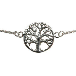 Sterling Silber 925 Baum des Lebens Handgelenk Armband!!! BRANDNEU!!!