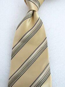 Recent Giorgio Armani Cravatte Gold Stripe silk tie -$195 Retail*