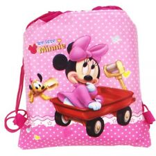 Baby Minnie Mouse Pink Kids Swimming Bag Drawstring Party Favour