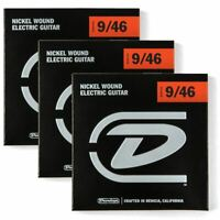 Dunlop DEN0946 Electric Guitar Strings, Light Top Heavy Bottom, 3-Pack