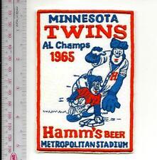 Beer Baseball Minnesota Twins & Hamm's Beer American League AL 1965 Champs Promo