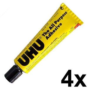 4 x UHU All Purpose Universal Glue 35G/ML