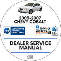 Chevrolet Chevy Cobalt 2005 2006 2007 Factory Service Repair Manual on CD