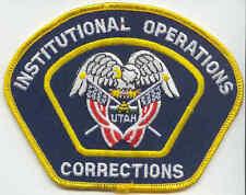 Insigne tissu des Institutions Pénitentiaires UTAH USA (petit modèle)