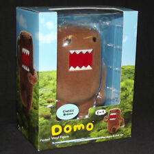 Official Domo 'Classic Brown' flocked vinyl figure *UK SELLER*