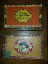 2 Vintage Cigar Boxes R.G. DUN BOUQUET, VAN DAM DE LUXE