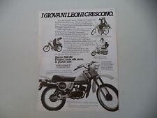advertising Pubblicità 1981 MOTO PEUGEOT TEX 80/103 LVS/GL10 GL 10