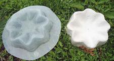 Poly plastic shell birdbath Mold plaster concrete casting mould