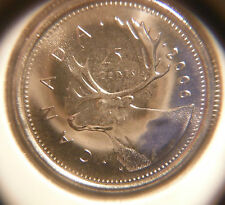 2006 Caribou Twenty-Five Cents ***** Brilliant & Uncirculated From Mint Roll
