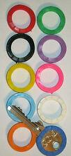10 x Schlüsselkennringe zur Markierung f. Schlüssel  verschiedene Farben