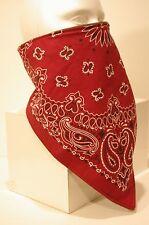 Burgundy Recreational Fleece Lined Bandana motorcycle face mask protector