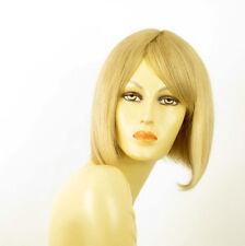 perruque femme 100% cheveux naturel mi-longue blonde ref CAMILLE  22
