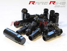 Black GT50 Wheel Nuts x 20 12x1.25 Fits Subaru Impreza STI WRX GT86