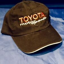 Indianapolis Indy 500 TOYOTA MOTORSPORTS Black TEAM ISSUE Cap Hat NWOT MINT