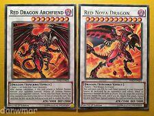 Red Dragon Archfiend + Red Nova Dragon - YuGiOh - HSRD - Rare - Mint cards
