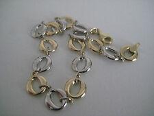Gold Armband 9 Karat Gelb & Weissgold links