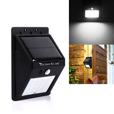 16 LED Solar Power PIR Motion Sensor Wall Light Garden Outdoor Security Lamp
