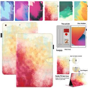 For iPad 5/6/7/8/9th Gen 10.2 Mini Air Pro 11 12.9 Smart Cover Flip Leather Case