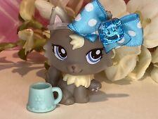 Authentic Littlest Pet Shop Lps 1411 Smokey Grey Persian Himalayan Kitty Cat