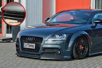 Frontspoiler Lippe Spoilerschwert aus ABS für Audi TTS 8j mit ABE schwarz glanz