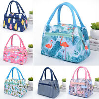 Cartoon Printed Lunch Bag Portable Insulated Thermal Cool Bags Picnic Food Box